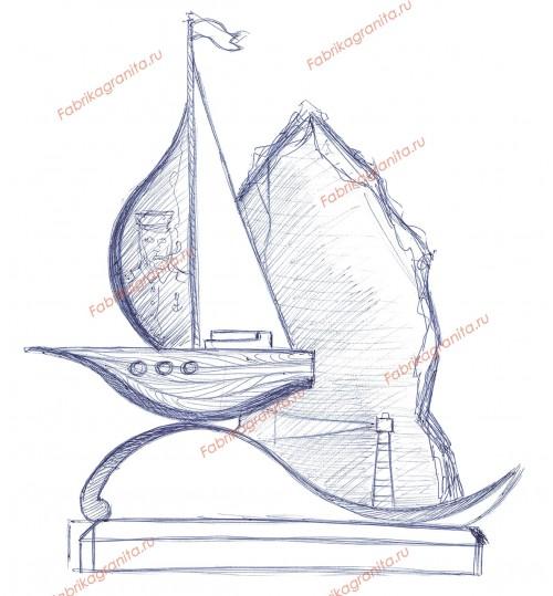 Эскиз памятника EZ-016