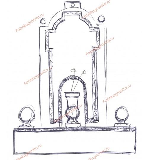 Эскиз памятника EZ-020