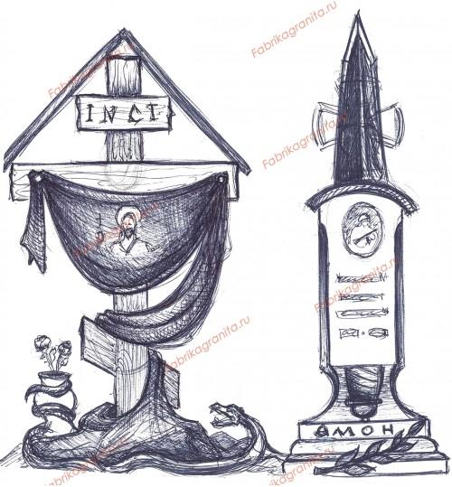Эскиз памятника EZ-005