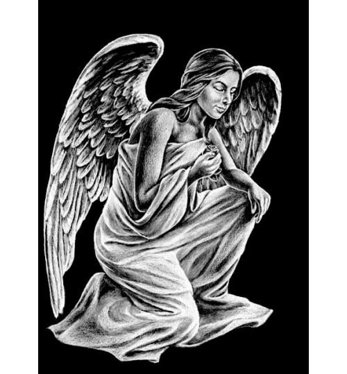 Гравировка «Ангел» 012