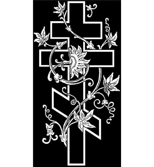 Гравировка «Крест» 013