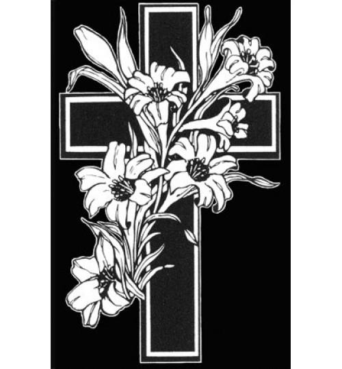 Гравировка «Крест» 016