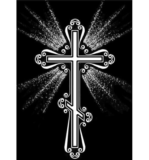 Гравировка «Крест» 019