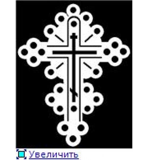 Гравировка «Крест» 020