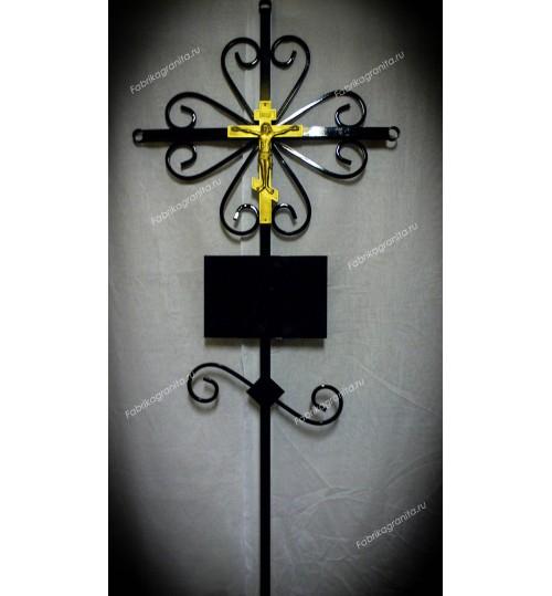 Крест на могилу кованый T-007
