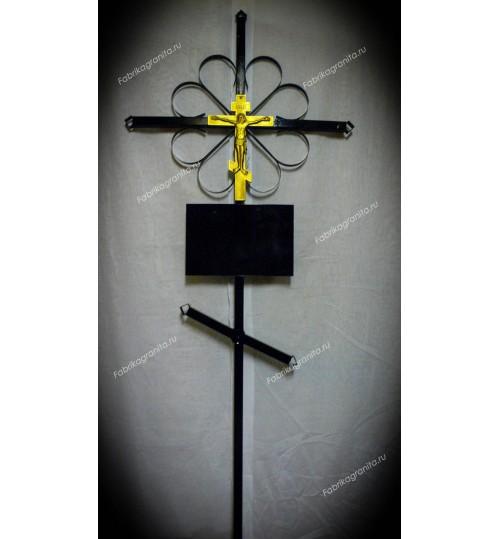 Крест на могилу кованый T-008