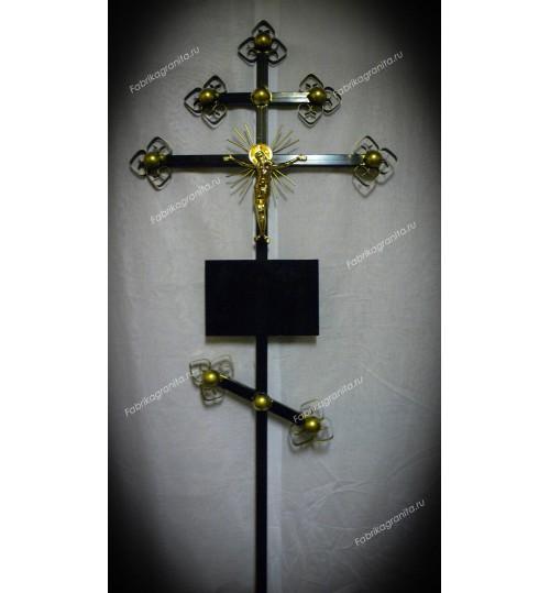 Крест на могилу кованый T-009