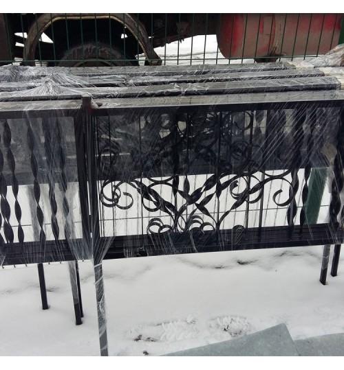 Ограда на могилу кованная H-001