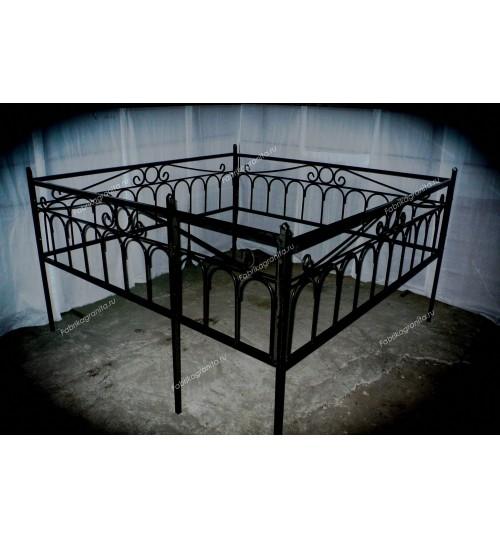 Ограда на могилу кованная H-005