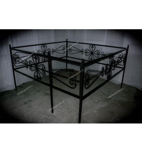 Ограда на могилу кованная H-006