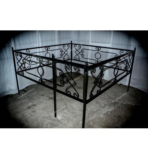 Ограда на могилу кованная H-007