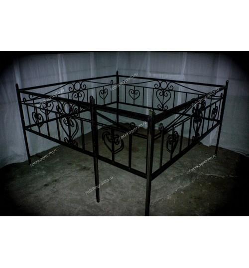 Ограда на могилу кованная H-008